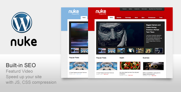 Live Preview of Nuke SEO support For Magazine Blog News