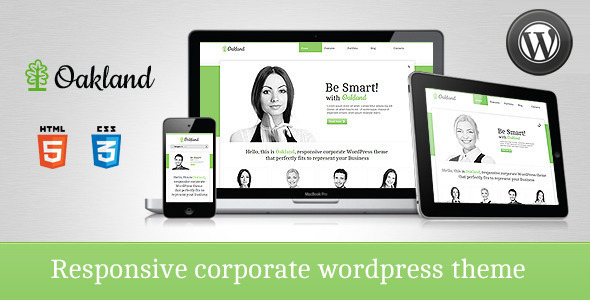 Live Preview of Oakland - Premium Responsive WordPress Theme