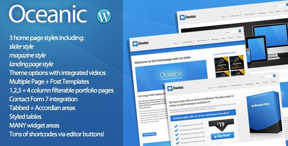 Oceanic - Premium WordPress Theme