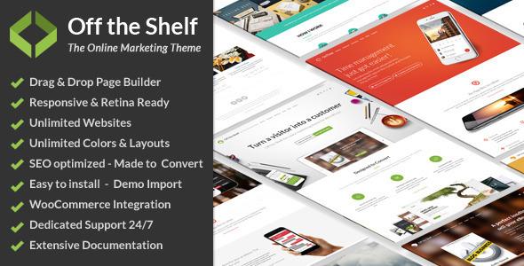 Live Preview of Off The Shelf - Marketing en ligne Thème WordPress