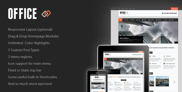 Live Preview of Office Responsive Business Theme