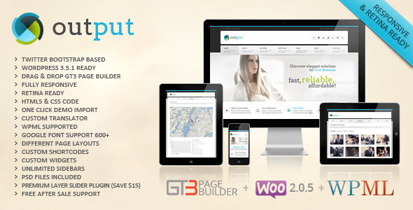 Live Preview of Output | Responsive Multi-Purpose Wordpress Theme