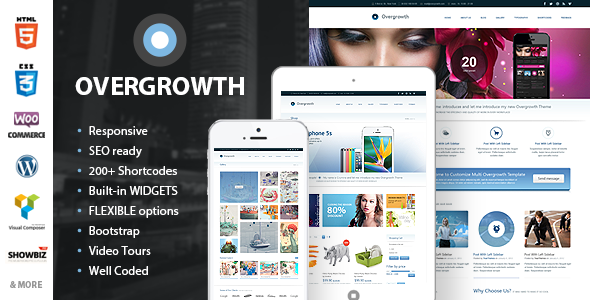 Live Preview of Overgrowth - Retina Responsive Multi-Purpose Theme