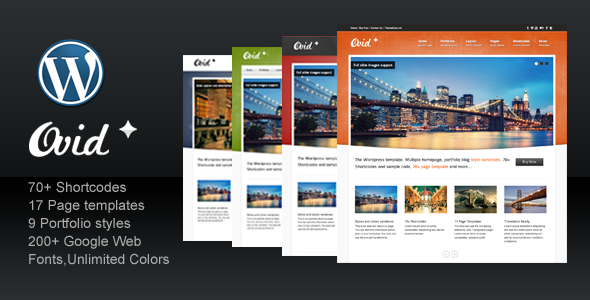 Live Preview of Ovid for Business Corporate Portfolio