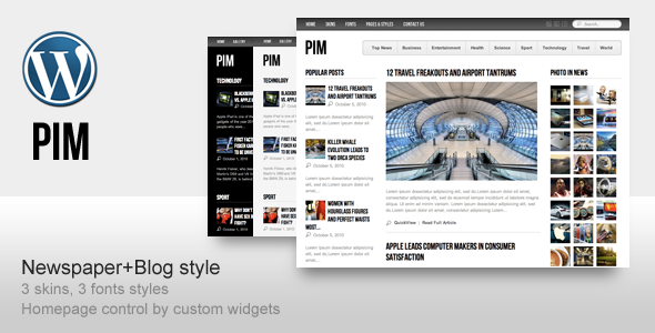 Live Preview of PIM - Newspaper Magazine and Blog Template