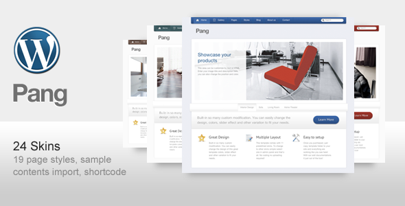 Live Preview of Pang - Business and Corporate Wordpress Template