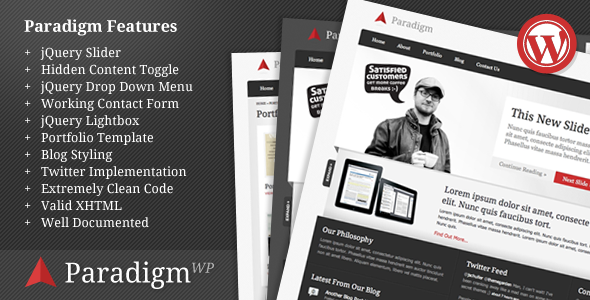 Live Preview of Paradigm Premium WordPress Theme