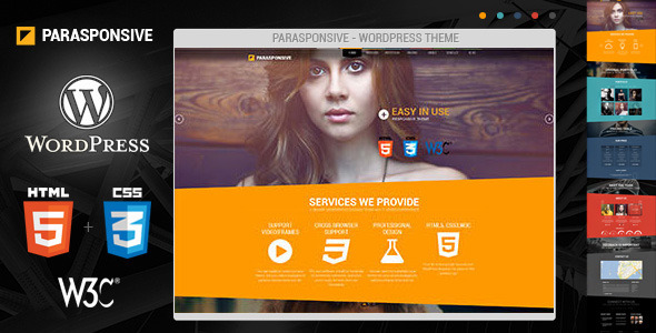 Live Preview of Parasponsive - WordPress, Responsive, Parallax
