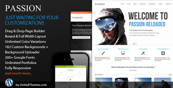 Live Preview of Passion Reloaded Responsive WordPress Theme
