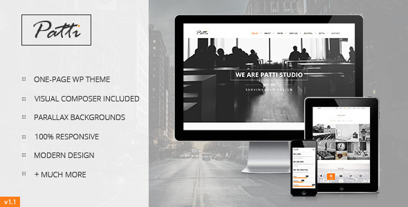Live Preview of Patti - Parallax One Page WordPress Theme