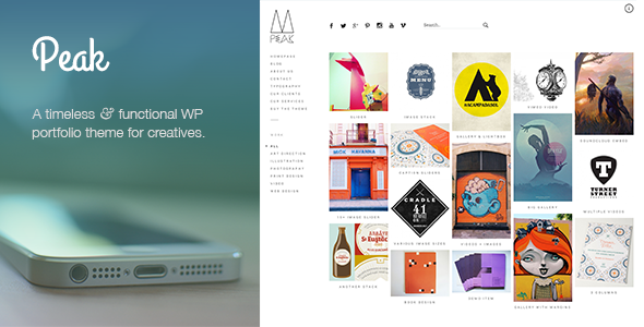 Live Preview of Peak: Retina Responsive WordPress Portfolio Theme