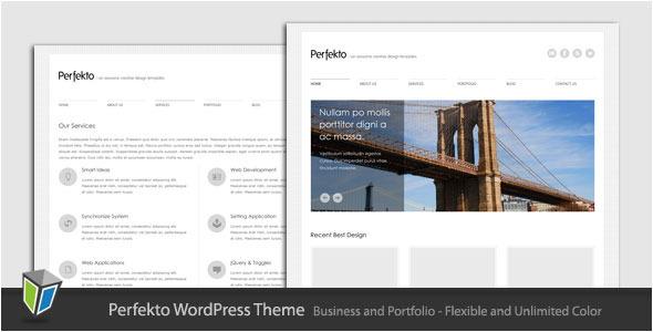 Live Preview of Perfekto - Minimalist Portfolio WordPress Theme