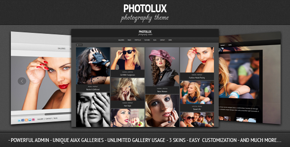 Live Preview of Photolux - Photography Portfolio WordPress Theme