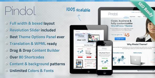 Live Preview of Pindol Premium WordPress Theme