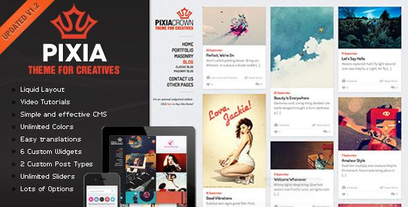 Live Preview of Pixia Wordpress Theme
