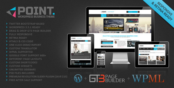 Live Preview of Point Business Responsive WP Theme