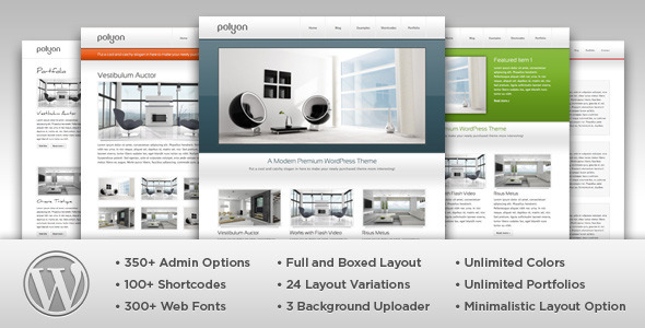 Live Preview of Polyon - Futuristic WordPress Theme