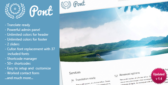 Live Preview of Pont - Multipurpose Wordpress Theme