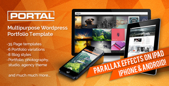 Live Preview of Portal - Multipurpose Wordpress Portfolio Template