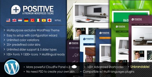 Live Preview of Positive - Premium Multipurpose WordPress Theme