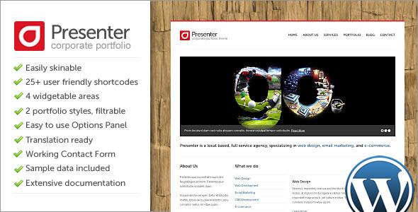 Live Preview of Presenter WP - Corporate Portfolio Wordpress Theme