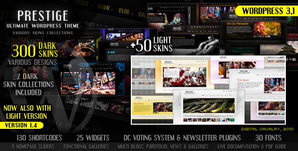 Live Preview of Prestige - Ultimate WordPress Theme