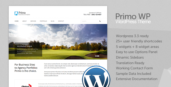 Live Preview of Primo WP - Business / Corporate WordPress Theme
