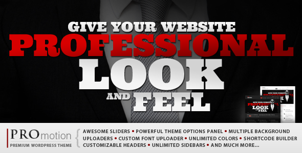 Live Preview of ProMotion WordPress Theme
