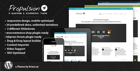 Live Preview of Propulsion - responsive business & eCommerce