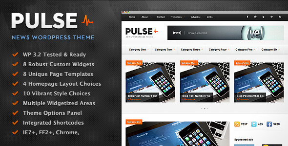 Live Preview of Pulse - News & Magazine WordPress Theme