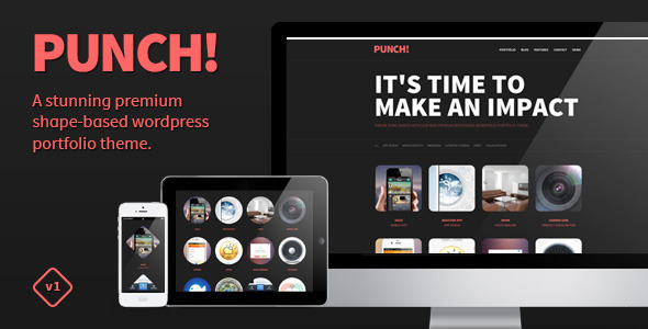 Live Preview of Punch - Responsive Portfolio WordPress Theme