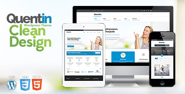 Live Preview of Quentin - Premium Multipurpose Wordpress Theme