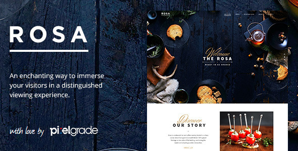 Live Preview of ROSA - An Exquisite Restaurant WordPress Theme