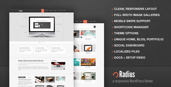 Live Preview of Radius Responsive WordPress Theme