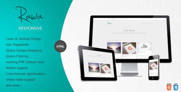 Live Preview of Rawa - Clean / Responsive / Minimal / HTML5