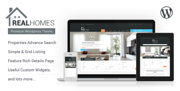 Live Preview of Real Homes - WordPress Real Estate Theme