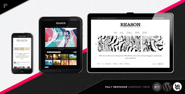 Live Preview of Reason WP: Smart, Responsive, Customizable
