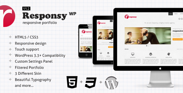Live Preview of Responsy WP - Responsive HTML5 Portfolio
