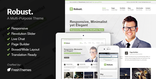 Live Preview of Robust - Responsive Multi-Purpose WordPress Theme
