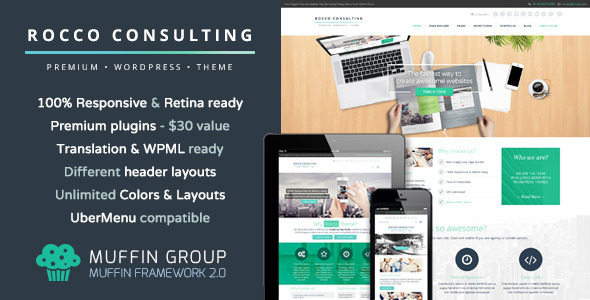 Live Preview of Rocco Flat Premium WordPress Theme