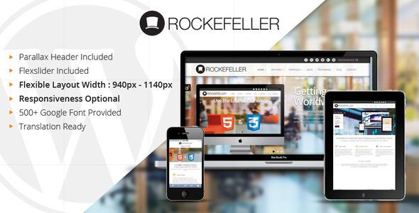 Live Preview of Rockefeller - Flexible & Multipurpose WP Theme