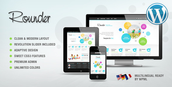 Live Preview of Rounder: Multi-Purpose Adaptive Wordpress Theme