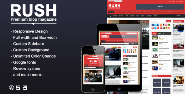 Live Preview of Rush -  WordPress Blog & Magazine Theme