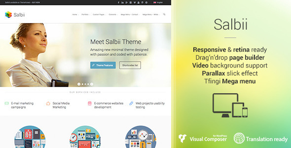 Live Preview of Salbii - Responsive Multi-Purpose WordPress Theme