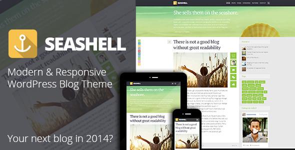 Live Preview of SeaShell - Modern Responsive WordPress Blog Theme