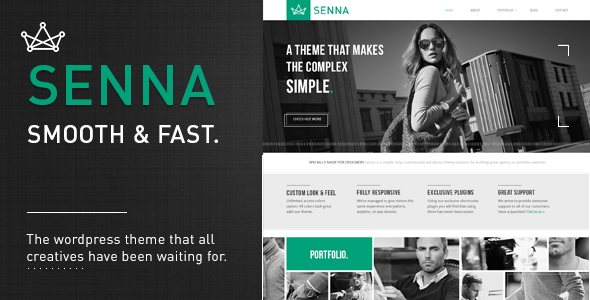 Live Preview of Senna - Responsive Portfolio/ Blog WordPress Theme