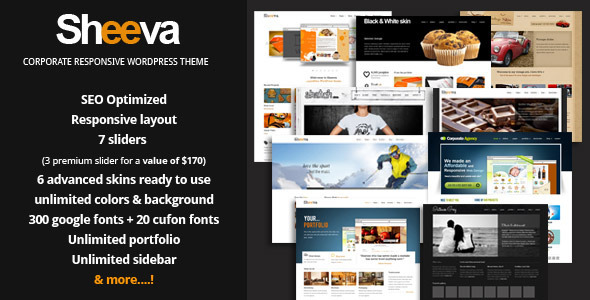 Live Preview of Sheeva - Multipurpose WordPress Theme