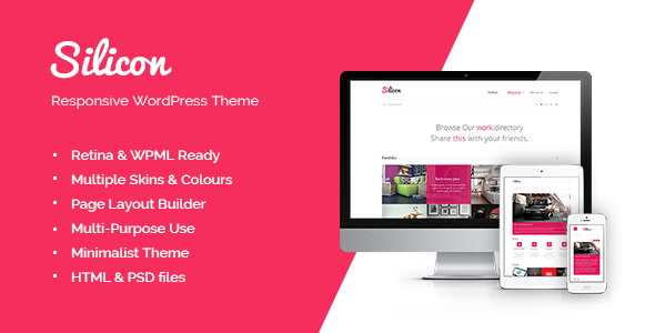Live Preview of Silicon - Responsive WordPress Theme