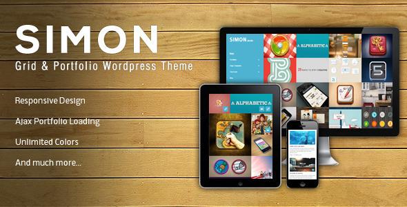 Live Preview of Simon | Wordpress & Portfolio Theme