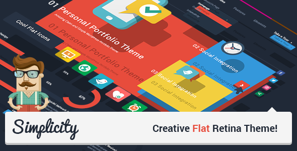 Live Preview of Simplicity - Creative Flat Retina Theme